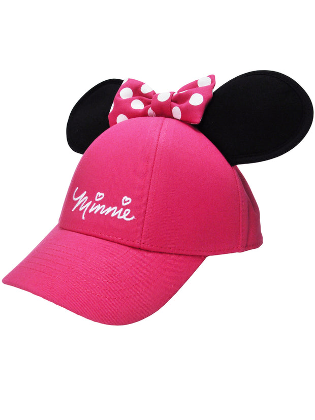 Pink Minnie Mouse Ears Hat with Minnie Wallet Girls 2Pc