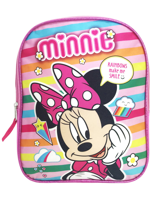 "Disney Minnie Mouse 11"" Backpack Mini Toddler w/ 8PK Washable Markers Colormax"