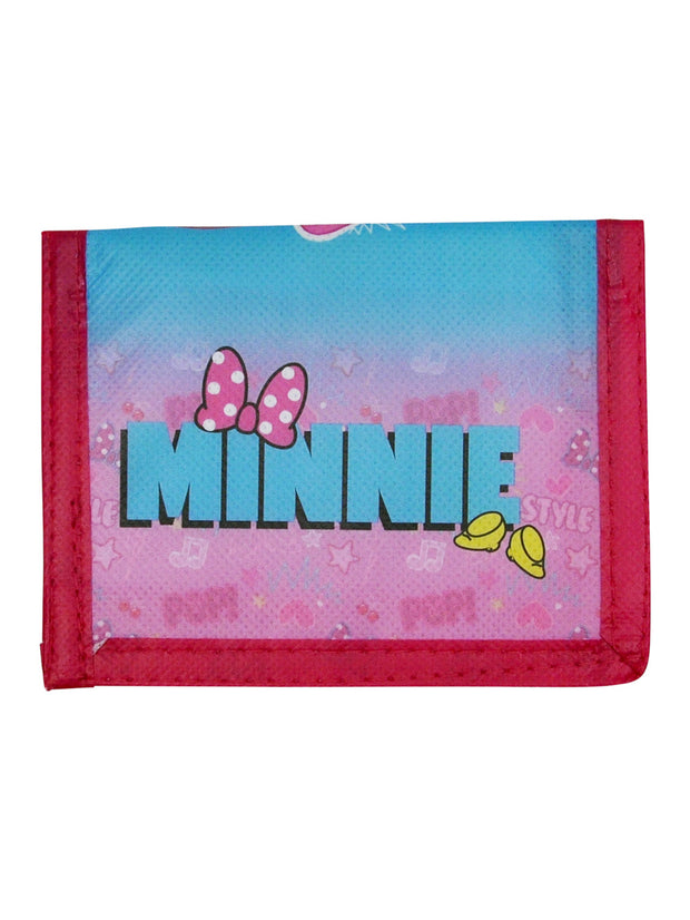 Girls Minnie Mouse Bi-Fold Wallet Pink