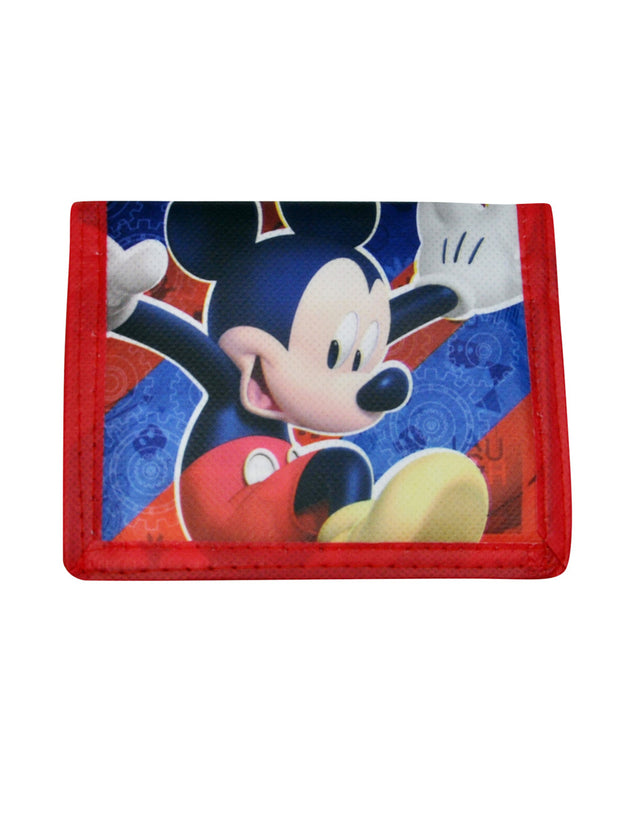 "Boys Mickey Mouse Stars 15"" Backpack and BiFold Wallet 2Pc"