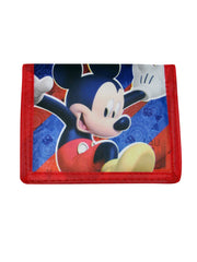 Boys Mickey Mouse Clubhouse Bi-Fold Wallet Red Blue