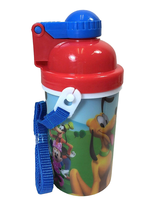 Mickey Mouse Canteen Water Bottle 12oz Popup Lid & Shoulder Strap