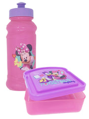 Minnie Mouse 16 oz Pull Top Water Bottle & Sandwich Food Container 2-Piece Set