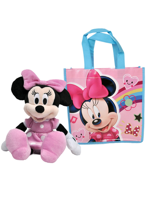 "Minnie Mouse 11"" Plush Doll & Gift Tote Bag 2 Pcs"