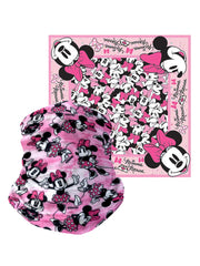 "Disney Kids Minnie Mouse All-Over Print Neck Face Cover & 22"" x 22"" Bandana"