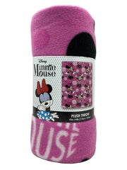 "Disney Minnie Mouse 45"" x 60"" Throw Blanket w/ Girls Minnie 11"" Plush Doll"