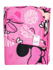 "Disney Minnie Mouse Throw Blanket 45"" x 60"" All-Over Print Pink"