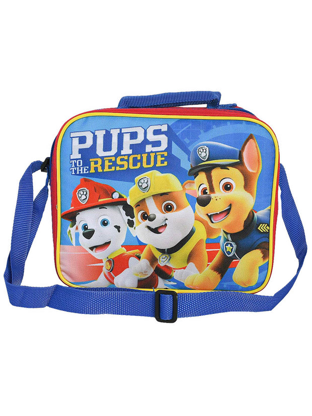 Boys Paw Patrol Insulated Lunch Bag Pups To The Rescue With Shoulder Strap