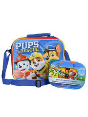 Paw Patrol Insulated Lunch Bag & 2-Pack Chase Marshall Pups Snack Container Set