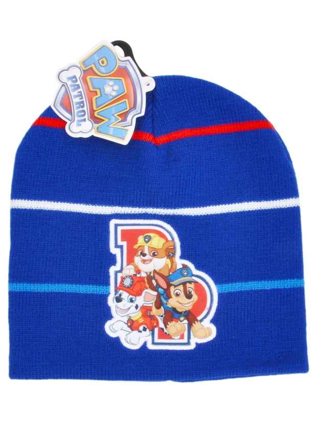 Boys Paw Patrol Chase Marshall Rubble Knit Cuffed Beanie Hat