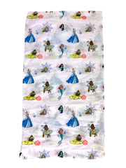 Kids Girls Disney Princess All-Over Print Neck Gaiter Wrap Mulan Lightweight