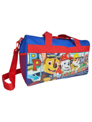 "Kids Paw Patrol Duffel Bag 17"" Teamwork Chase with Travel Pouch On A Roll 2-Piece Set"
