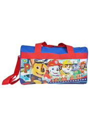 Paw Patrol Chase Marshall Duffel Bag Teamwork w/ Mesh Zipper Travel Case
