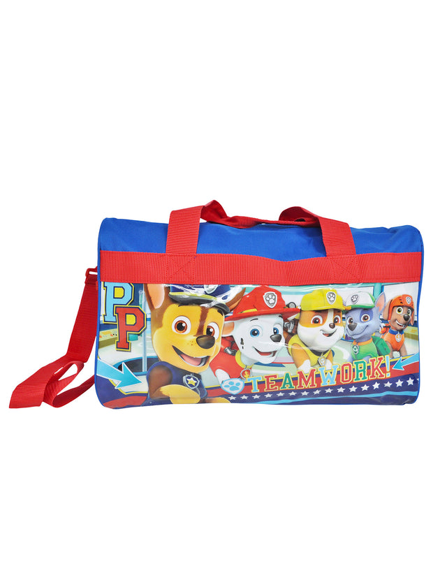 Boys Paw Patrol Duffel Bag Carry-On Travel w/ Chase Sling Bag 2-Piece Set