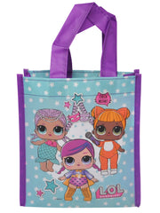 LOL Surprise 7 PC Tote w/ Face Masks Charm Bracelets & Raised Stickers
