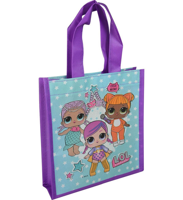 Girls LOL Surprise! Pink Pom Pom Headband & Reusable Shopping Tote 2-Piece Set