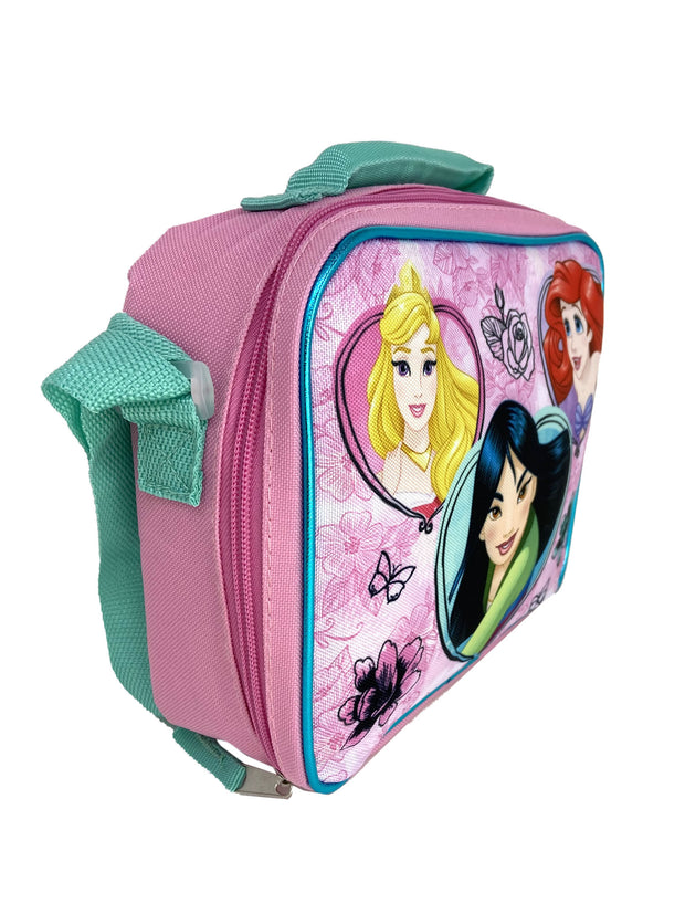 Girls Disney Princess Insulated Lunch Bag Ariel Mulan With Shoulder Strap