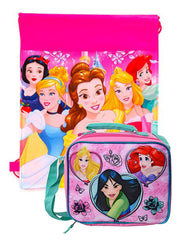 Disney  Princess Insulated Lunch Bag w/ Shoulder Strap & Ariel Belle Sling Bag