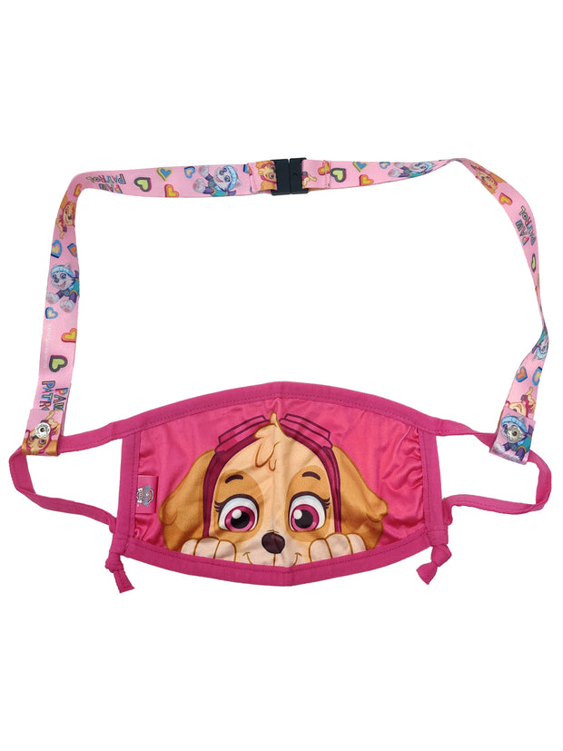 Paw Patrol Girls Reusable Face Mask Skye Puppy Smile Pink w/ Removable Strap
