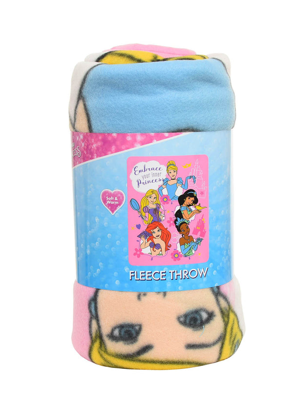 Disney Princesses Throw Blanket 45x60 & Sling Bag 2-Piece Set