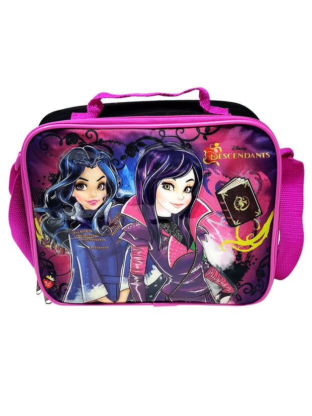 Disney Descendants Insulated Lunch Bag w/ Shoulder Strap & Snack Container Set