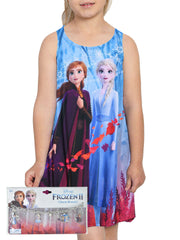 Girls Disney Frozen 2 Anna Elsa Tank Dress Sublimation w/ Frozen Charm Bracelet
