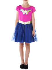 Girls Wonder Woman Dress Costume Cosplay Cape