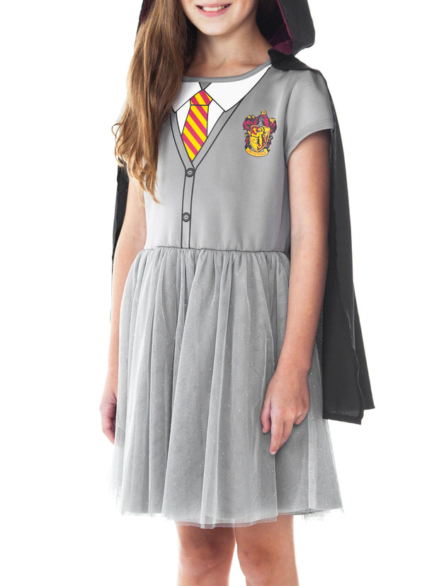 Girls Harry Potter Hermione Costume Dress w/ Cape Cosplay Pretend Play Size XL