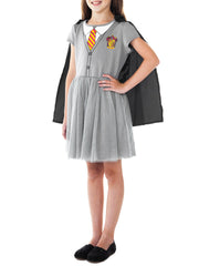 Girls Harry Potter Hermione Costume Dress w/ Cape Playwear