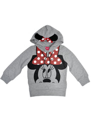 Disney Minnie Mouse Girls Pullover Hoodie Lightweight Sweatshirt