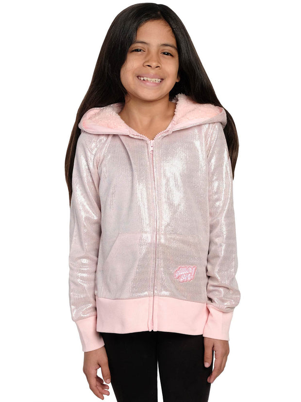 L.O.L. Surprise! Girls Hoodie Kitty Queen Costume Zip Glitter (Size Small Only)