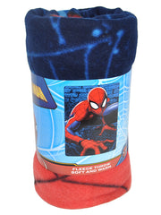 "Boys Spider-Man Fleece Throw Blanket 45"" x 60"" Web Lines"