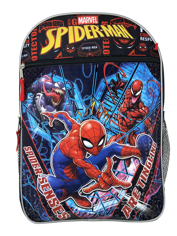"Boys Spider-Man 16"" Backpack Lunch Bag & Pencil Case w/ Grab & Go Play Pack"