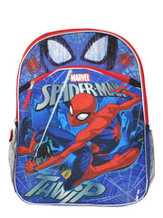 "Boys Spider-Man 16"" Backpack Web Sling w/ 3-Ring Pencil Zippered Pouch"