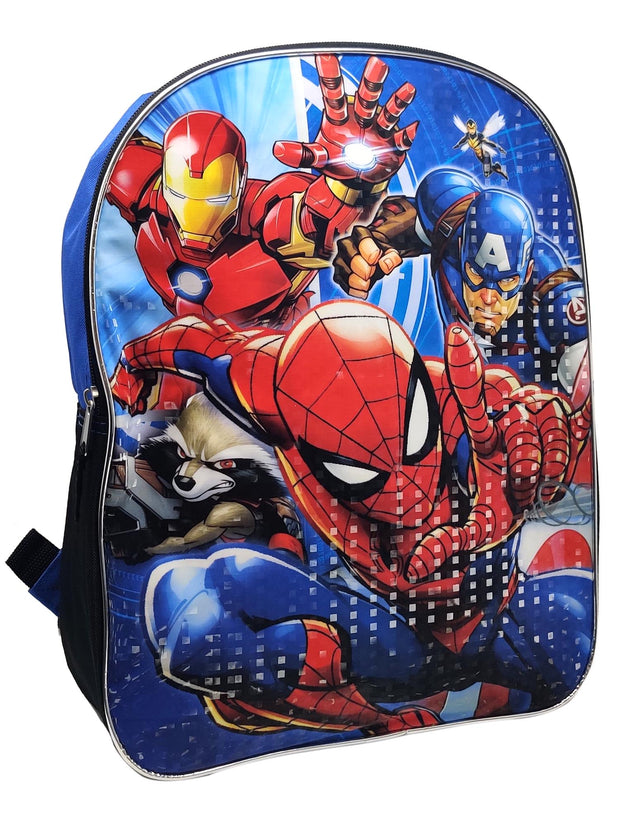 Marvel Spider-man Iron Man Captain America Backpack 15""