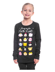 Disney Girls Christmas Tsum Tsum Long Sleeve T-Shirt Size XS