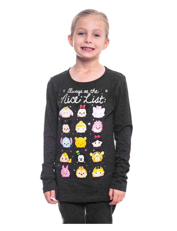 Disney Girls Christmas Tsum Tsum Long Sleeve T-Shirt
