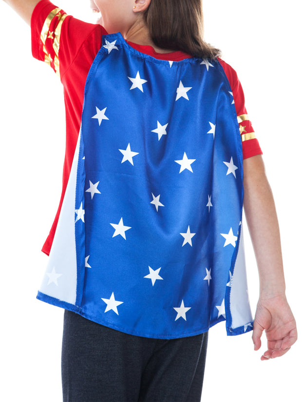 DC Superhero Girls Wonder Woman Halloween Costume T-Shirt w/ Cape