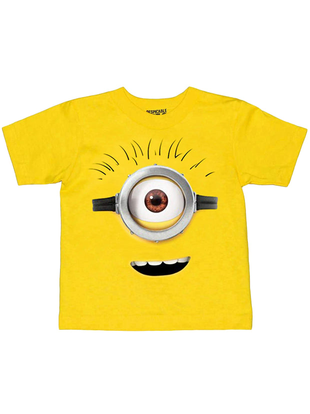 Toddler Despicable Me Minions Costume T-Shirt Face Cotton Yellow