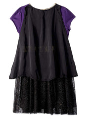 Toddler Girls Batgirl Costume Dress w/ Cape Black Purple Gold Cosplay Size 2T