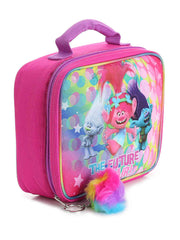 Trolls Insulated Lunch Bag Poppy Branch w/ 8oz Resuable Snack Containers 3-Pack