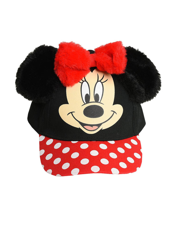 Minnie Mouse Girls Toddle Baseball Cap Hat Ears Black