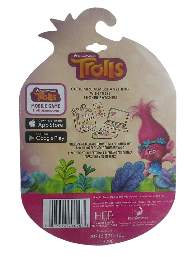 Dreamworks Girls Trolls Poppy and Friends Adhesive Patches 2 Piece Set