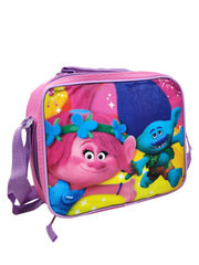 Trolls Insulated Lunch Bag w/ Shoulder Strap & 3-Pk 8 oz Snack Containers