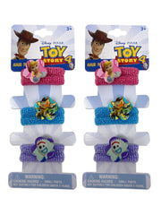 Disney Toy Story 4 Elastic Stretch Hair Terries Ponies Woody Buzz Forky (6-CT)