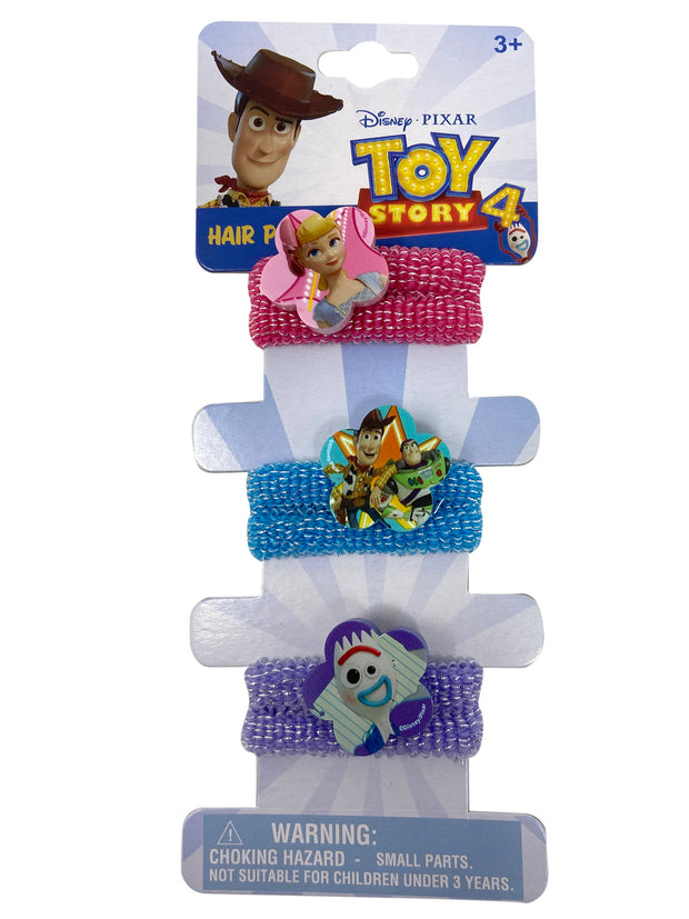 Disney Toy Story 4 Elastic Hair Ponies Ties & Stretch Terries Woddy Buzz (10-Ct)