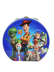Toy Story 4 Kids Semi Round Tin Box w/Clasp & Handle Woody Buzz Forky Rex