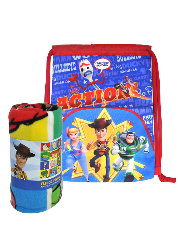"Toy Story 4 45"" x 60"" Fleece Throw Blanket & 15""  Sling Bag 2-Piece Set"