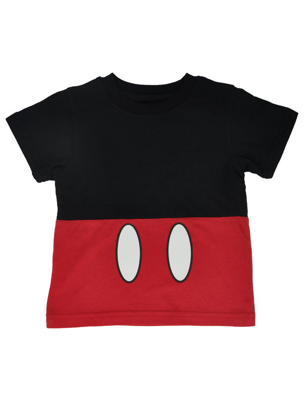 Boys Toddler Disney Mickey Mouse Costume T-Shirt Red Black