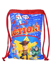 "Disney Toy Story Boys Ringer T-Shirt Grey & Toy Story 4 Sling Bag 15"" 2-Pcs Set"